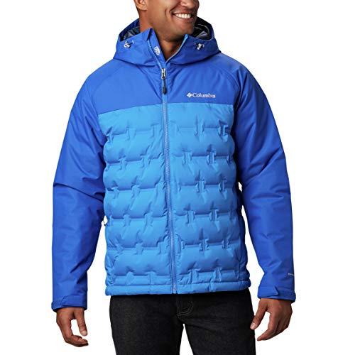Columbia Men's Grand Trek Down Jacket, Azure Blue, Azul, 3X/Tall