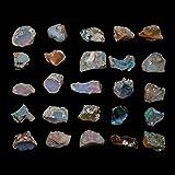 30 carats naturel brut opale de feu éthiopienne cristaux pi
