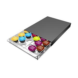 Abeba Tavola Swiss 5049024 - Cassetto in plastica, per 30 Capsule Nespresso, 45x 35x 25cm, Multicolore