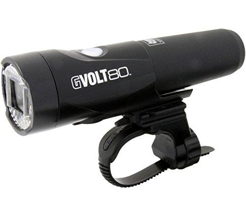 Cateye GVolt 80 HL-EL560G RC Frontlicht, schwarz/Rot, One Size