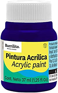Barrilito AB307 Pintura acrílica color azul ultramar, bote