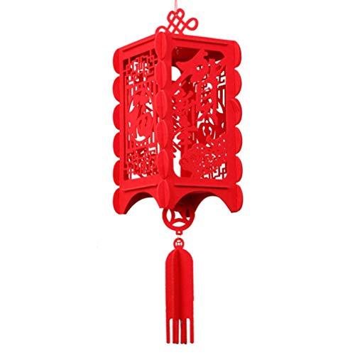 Mobestech Palastlaterne Der Roten Laternen Der Chinesischen Art Die Dekorative Filzlaterne für Mondfrühlingsfestfeierausgangsparteidekor Des Neuen Jahres Hängt