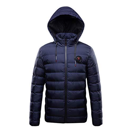 Longra Herren Steppjacke Reißverschluss Hoodie Warme Kapuzenjacke Übergangsjacke Winterjacke Outwear Casual Sweatjacke mit Kapuzen