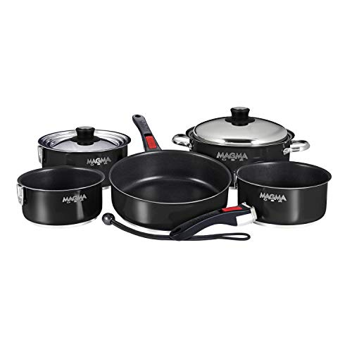 Magma A10-366-JB-2-IN Cookware - 10 PC Set, Non-Stick, Jet Black