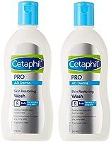 Cetaphil PRO AD Derma Skin Restoring Wash, 295ml (Pack of 2)