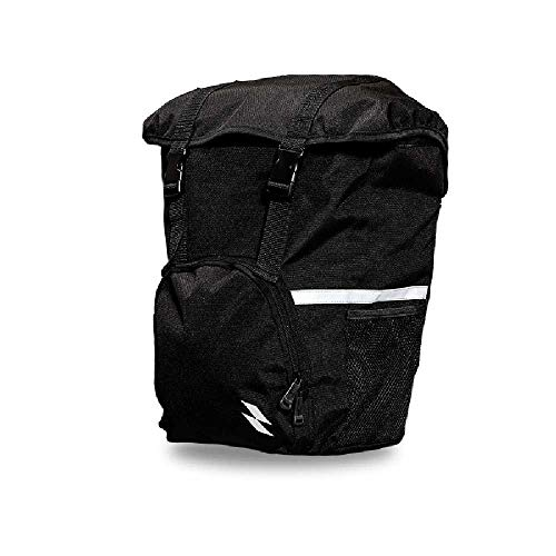NZYH Shoulder Bag with Water Bag Black Waterproof Back Seat Bag with Reflective 15L Bicycle Saddle Bag 40 * 30 * 13CM/Black