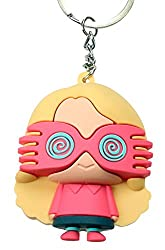 licensed Harry Potter 3D Keychain Luna Lovegood pendant with glasses including keyring Ø 2,8 cm and carabiner Pendant 5.5 x 4.7 x 3 cm perfect fan gift