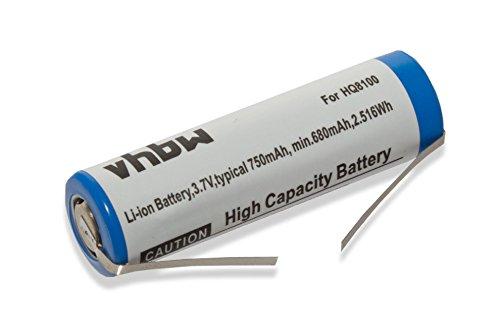 vhbw Li-Ion Akku 750mAh (3.7V) für Rasierer Haarschneider von Philips