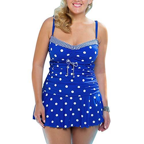 Tankini Dames Vintage Polka Modern Size Bikini Set Grote Casual Dots Zomer Elegante Sling Backless Mode Casual Vakantie Strand Badpak Twee Stuk Set
