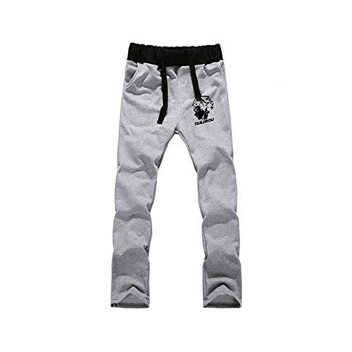 Jogger Pantalones Deportivos Anime Demon Slayer Cosplay Disfraz Largos Sweat Pants Trousers con Bolsillos L