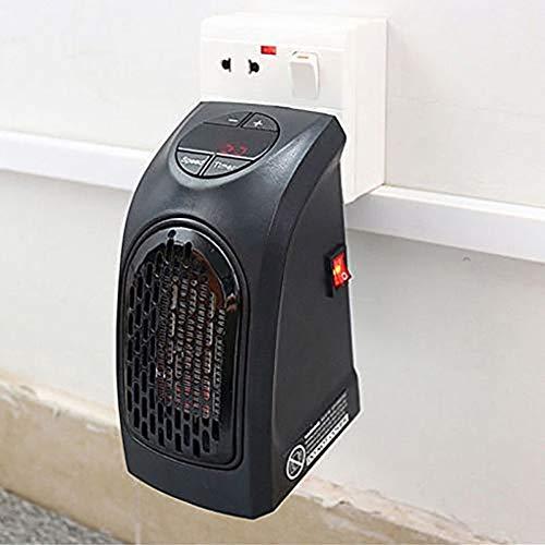 Riloer Calentador Enchufable, Calefactor Eléctrico Portátil con Temperatura Ajustable, Función de Temporizador de 12 Horas y Pantalla LCD para Hogar y Oficina (400 W, Enchufe Europeo)