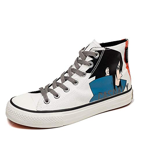 Anime Naruto Canvas Schoenen Espadrilles Canvas Shoes Spring High-Top Sneakers Wit Heren 41
