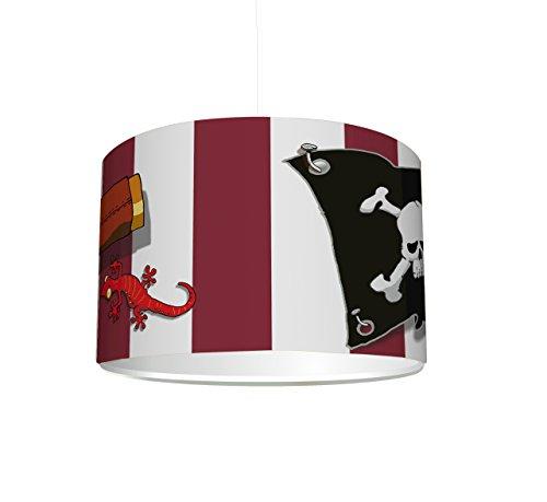 Stikkipix Kinderzimmer Lampenschirm Piraten KL30 | kinderleicht eine Piraten-Lampe erstellen | als Steh- oder Hängeleuchte/Deckenlampe | perfekt für Piraten-begeisterte Jungen & Mädchen