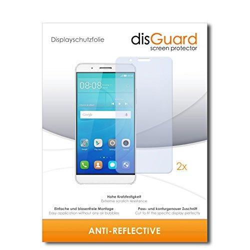 disGuard® Bildschirmschutzfolie [Anti-Reflex] kompatibel mit Huawei ShotX [2 Stück] Entspiegelnd, Matt, Antireflektierend, Extrem Kratzfest, Anti-Fingerabdruck - Panzerglas Folie, Schutzfolie