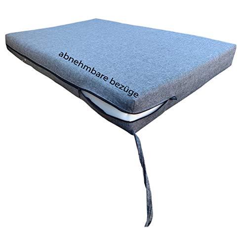 Pillows24 Palettenkissen 8-teiliges Set | Palettenauflage Polster für Europaletten | Hochwertige Palettenpolster | Palettensofa Indoor & Outdoor | Erhältlich Made in EU | Graphit - 5