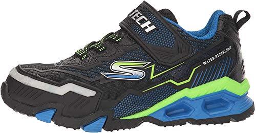 Skechers Jungen Hydro Lights Sneaker, Schwarz Blau Limette, 31