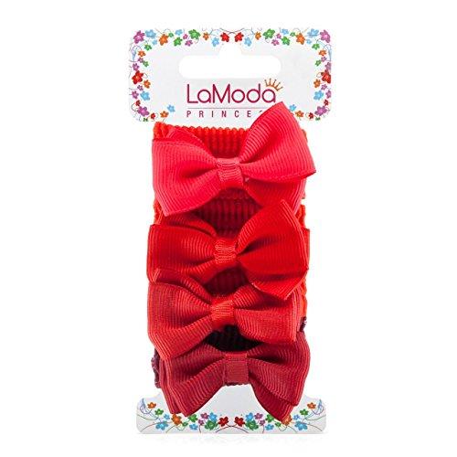 lamoda Prinzessin Kinder Pferdeschwanz Stil Haarbänder einige mit großen Schleife Detail, Rot