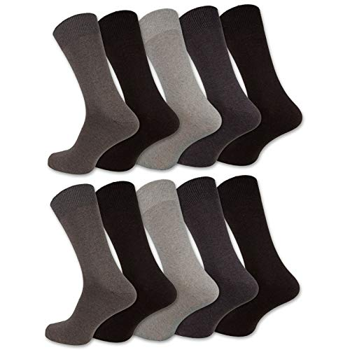 10 Paar Socken Herren Damen Baumwolle Schwarz Business Herrensocken Classic (43-46, Beigetöne)