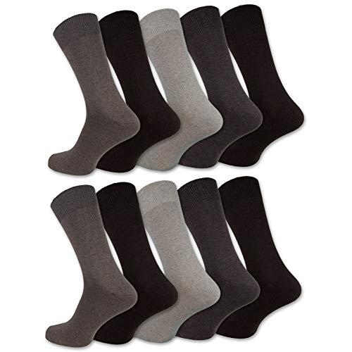 10 Paar Socken Herren Damen Baumwolle Schwarz Business Herrensocken Classic (35-38, Beigetöne)