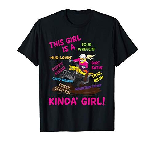Funny ATV Quad Biking Saying - ATV Girl - Four Wheeler Girls T-Shirt