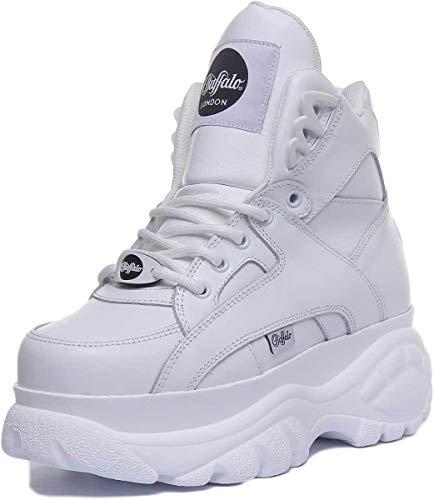 Buffalo London Classic Boots Shoes Plateau Schuhe Weiß (40 EU, Weiß)