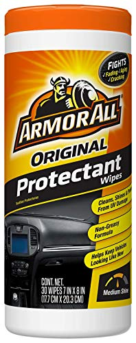 Armor All Car Interior Cleaner & Protectant Wipes - Cleaning for Cars & Truck & Motorcycle, 30 Count, 17496C