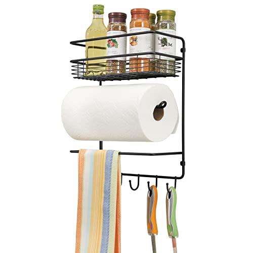 mDesign Práctico portarrollos de cocina – Versátil estantería de