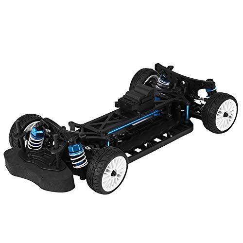 Marco de automóvil Rc con 4 amortiguadores, marco de deriva Rc con tracción en las cuatro ruedas, kit de marco de automóvil Rc de 10 pulgadas 3: 1 con 4 neumáticos, adecuado para entusiastas del autom