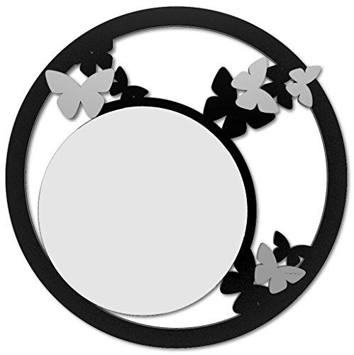 CalleaDesign Miroir Rond Papillon Noir