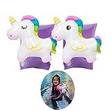 FunMove Bras de Licorne gonflables Enfants d'aide à la Natation Enfants de Bateau Manches de Piscine gonflables Brassard Piscine Jouet pour Enfants en Bas âge 2-8 Ans