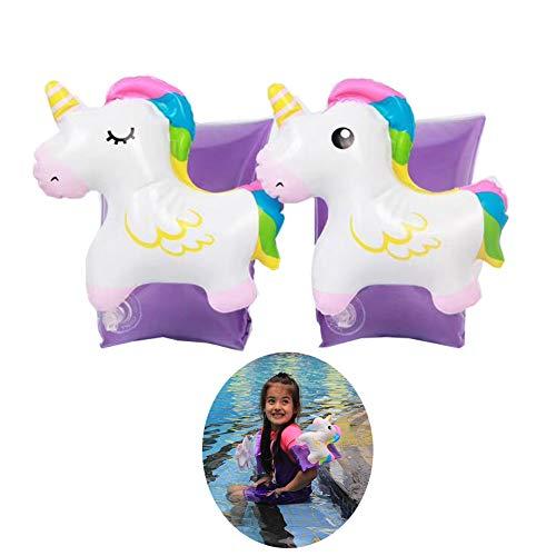 SuperCat Gonfiabile Bracciale Braccio Unicorno Nuoto aiuti Barca Bambini Maniche gonfiabili Nuotata Cerchio Bracciale Giocattolo Piscina per Bambini Bambini Piccoli 2-8 Anni