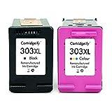 Cartridgeify 303XL Compatibili per HP 303 XL Cartucce (Nero+Tricromia), per HP Stampanti a Getto di Inchiostro ENVY Photo 6230 7100 7130 7134 7830 7834