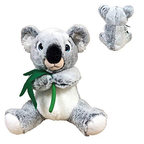 BARRADO - Peluche Koala Gris Claro - Calidad Super Soft (Ojos Azules, 7'50