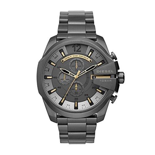 Diesel Herren Chronograph Quarz Uhr mit Edelstahl Armband DZ4466