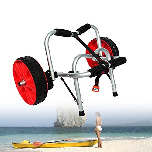 EFGS Aluminio De Aviación Kayak Plegable,45 Kg De Carga Carro Kayak,Correas De 3m De Largo Fijo Funda Protectora De Goma Llantas De Plastico