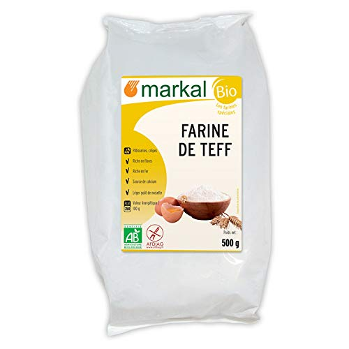 MARKAL - HARINA DE TEFF BLANCO 500G