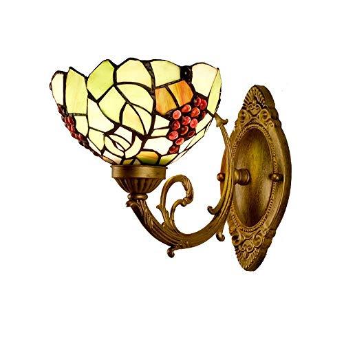 Piezas mecánicas Lámpara de pared para exteriores Lámpara de pared para exteriores Lámpara de pared Lámparas de pared de vitrales simples Lámpara de pared para decoración de cabecera de dormitorio