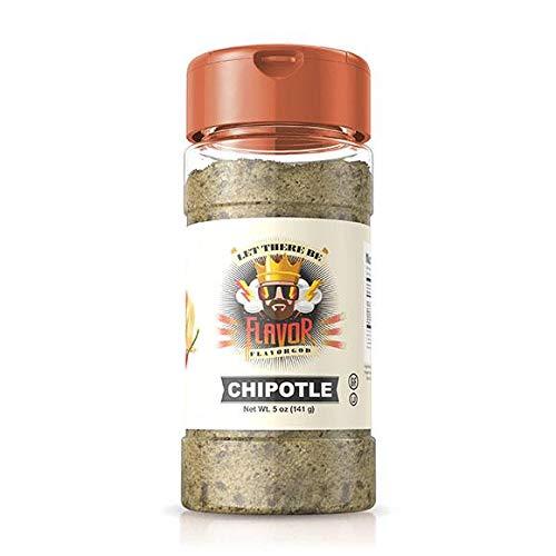 Flavor God Best-Selling Chipotle Seasoning, Gluten Free, Low Sodium, Paleo, Vegan, No MSG, Kosher Certified 5oz