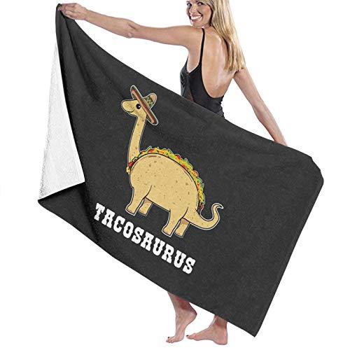 N\ Tacosaurus Kids T Shirt-Funny Food Pun Mexico Taco dinosaurio toalla de baño de secado rápido toalla de playa