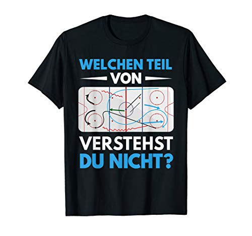 Herren Lustiges Eishockey Trainer Hockey Coach Eishockeyspieler T-Shirt