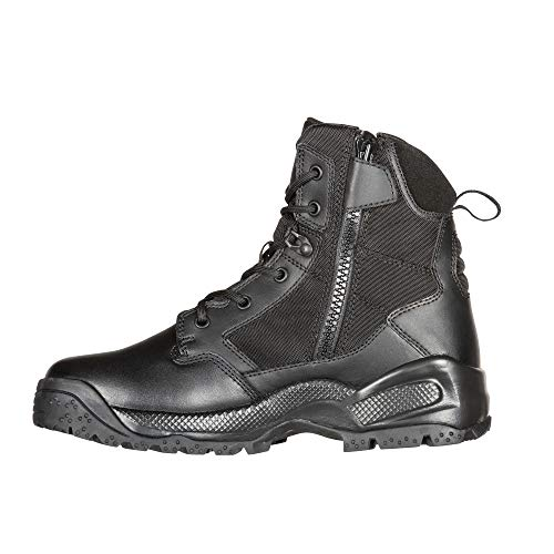 """5.11 Men's ATAC 2.0 6"""" Tactical Side Zip Military Boot, Style 12394, Black, 9.5 M US"""