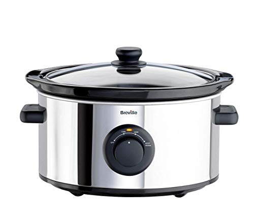 Breville ITP136 3.5L Slow Cooker - Stainless Steel.