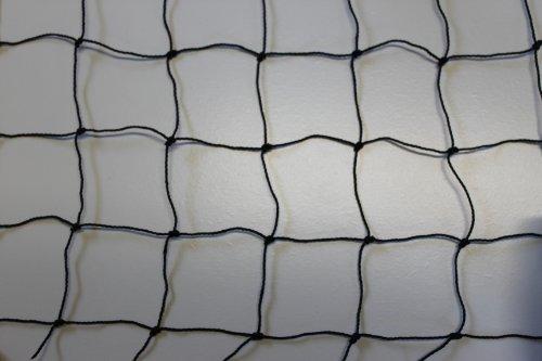 Katzennetz Katzenschutznetz Balkonnetz - schwarz - Masche 5 cm - Stärke: 1,2 mm - Breite: 4,00 m Meterware