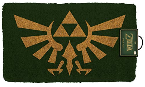 Pyramid America Zelda Crest Coir Doormat - 29' x 17' Indoor/Outdoor Entry Mat with Non-Skid PVC Back - Durable & Easy to Clean