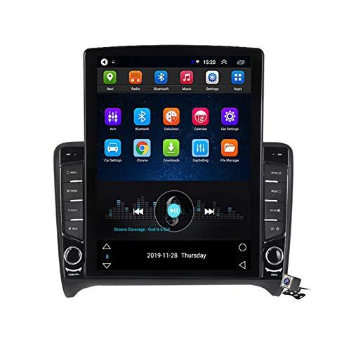 Android 9.0 Radio estéreo para automóvil compatible con Audi TT MK2 8J 2006-2012 Navegación GPS Unidad principal de pantalla vertical de 9.7 pulgadas Reproductor multimedia MP5 Video con 4G WiFi DSP