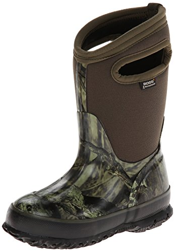 BOGS Unisex-Child Classic High Waterproof Insulated Rubber Neoprene Rain Boot Snow, Camo Mossy...
