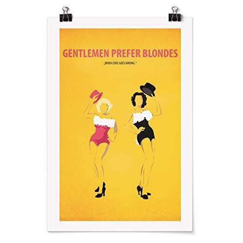 Bilderwelten Poster - Locandina Uomini preferiscono Le Bionde Carta Adesiva 120x80cm
