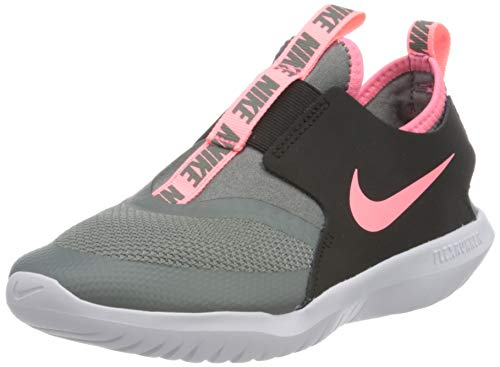 Nike Flex Runner (PS), Scarpe da Corsa Unisex-Bambini, Smoke Grey/Sunset Pulse-Black-White, 32 EU