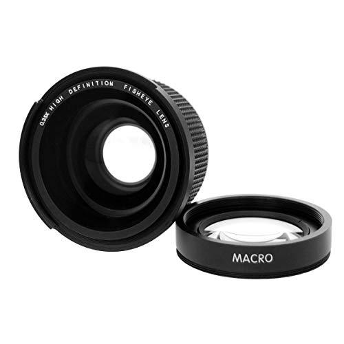 XZANTE 58mm 0.35X Lente de Gran Angular de Ojo de pez con Macro para Canon 1100D 700D 650D 600D 60D 7D