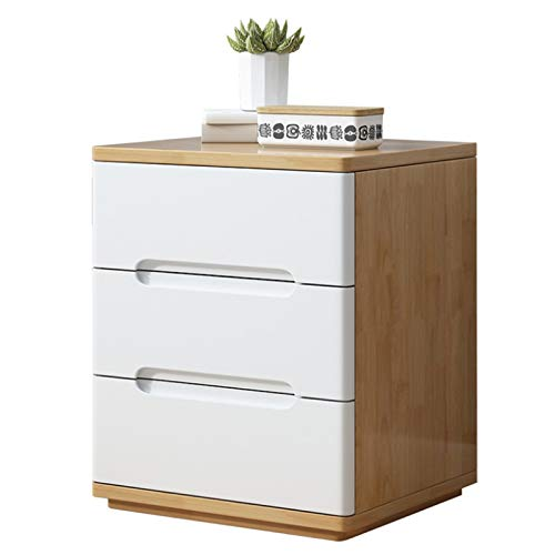 TWFY Schubladenbettkabinett Gebogene Massive Holzbettkabinettbettkabinett Lagerschrank Lagerschrank DREI Schubladenkiste Beistelltisch Speichereinheit (Color : A, Size : ONE Size)